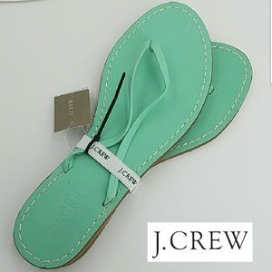 🆕 J Crew Capri Leather Sandal Mint Green